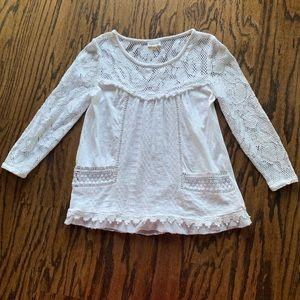 Anthropologie white blouse